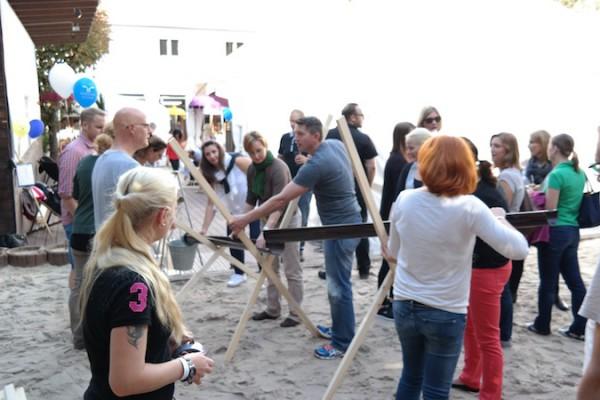 Kugelbahnbau als Teamevent Indoor und outdoor
