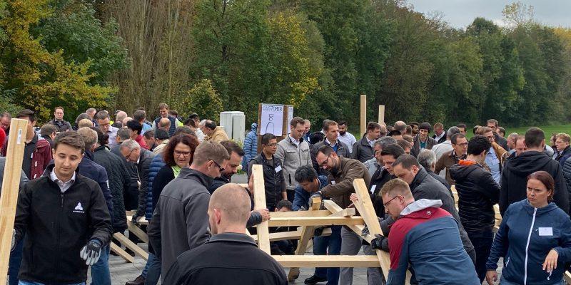 Brückenbau Teamevent