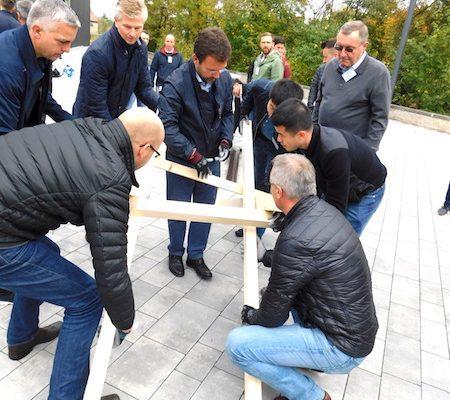 Teamevent Brückenbau